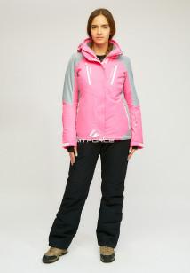 Горнолыжный костюм женский зимний розового цвета купить оптом в интернет магазине MTFORCE 01861R