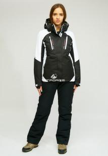 Горнолыжный костюм женский зимний черного цвета купить оптом в интернет магазине MTFORCE 01861Ch