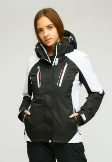 Купить оптом женскую зимнюю горнолыжную куртку черного цвета в интернет магазине MTFORCE 1861Ch