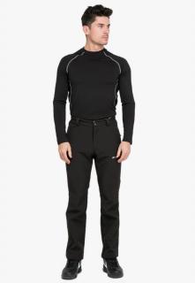 Купить оптом брюки мужские из ткани softshell черного цвета 1868Ch в интернет магазине MTFORCE.RU