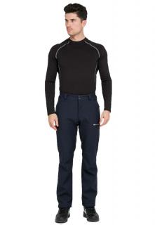 Купить оптом брюки мужские из ткани softshell темно-синего цвета  1868TS в интернет магазине MTFORCE.RU