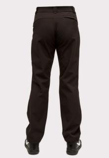 Купить оптом брюки мужские из ткани softshell большого размера черного цвета 1869Ch в интернет магазине MTFORCE.RU
