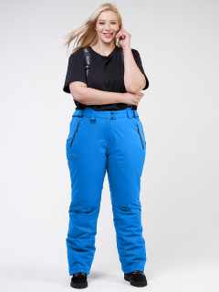 Интернет магазин MTFORCE.ru предлагает купить оптом брюки горнолыжные женские большого размера голубого цвета 1878Gl по выгодной и доступной цене с доставкой по всей России и СНГ