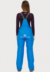 Купить оптом брюки горнолыжные женские большого размера голубого цвета 1878Gl в интернет магазине MTFORCE.RU