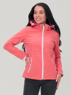 Купить оптом женскую осеннюю весеннюю ветровку персикового цвета в интернет магазине MTFORCE 19007P