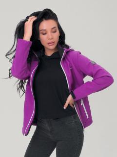 Купить оптом женскую осеннюю весеннюю ветровку темно-фиолетового цвета в интернет магазине MTFORCE 19007TF
