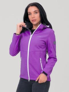 Купить оптом женскую осеннюю весеннюю ветровку фиолетового цвета в интернет магазине MTFORCE 19007F