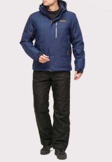 Купить оптом костюм горнолыжный мужской темно-синего цвета 01901TS в интернет магазине MTFORCE.RU
