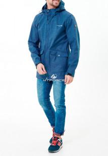 Купить оптом мужскую осеннюю весеннюю парку softshell синего цвета в интернет магазине MTFORCE 1904TC
