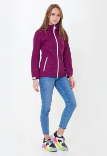 Купить оптом женскую осеннюю весеннюю ветровку softshell фиолетового цвета в интернет магазине MTFORCE 1907-1F