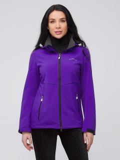 Купить оптом женскую осеннюю весеннюю ветровку softshell темно-фиолетового цвета в интернет магазине MTFORCE 19077-1TF