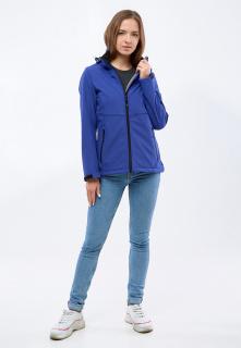 Купить оптом женскую осеннюю весеннюю ветровку softshell темно-синего цвета в интернет магазине MTFORCE 1907TS