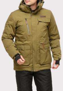 Купить оптом куртку горнолыжную мужская цвета хаки 1910Kh в интернет магазине MTFORCE.RU