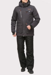 Купить оптом костюм горнолыжный мужской темно-серого цвета  01910TC в интернет магазине MTFORCE.RU