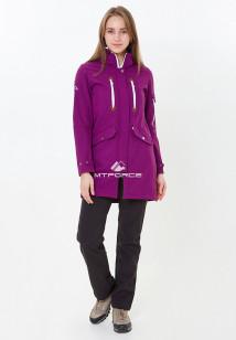 Спортивный костюм женский осенний весенний softshell фиолетового цвета купить оптом в интернет магазине MTFORCE 01911-1F