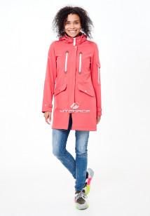 Купить оптом женскую осеннюю весеннюю парку softshell розового цвета в интернет магазине MTFORCE 1911-1R