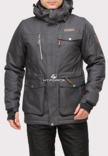Купить оптом куртку горнолыжную мужская темно-серого цвета 1911TC в интернет магазине MTFORCE.RU