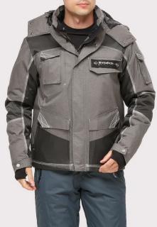 Купить оптом куртку горнолыжную мужская серого цвета 1912Sr в интернет магазине MTFORCE.RU