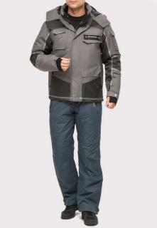 Купить оптом костюм горнолыжный мужской серого цвета 01912Sr в интернет магазине MTFORCE.RU