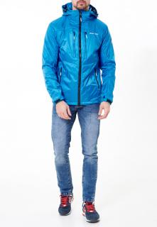 Купить оптом мужскую осеннюю весеннюю молодежную куртку голубого цвета в интернет магазине MTFORCE 1913Gl
