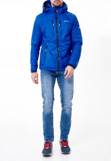 Купить оптом мужскую осеннюю весеннюю молодежную куртку синего цвета в интернет магазине MTFORCE 1913S
