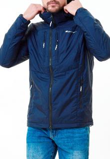 Купить оптом мужскую осеннюю весеннюю молодежную куртку темно-синего цвета в интернет магазине MTFORCE 1913TS