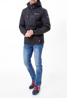 Купить оптом мужскую осеннюю весеннюю молодежную куртку черного цвета в интернет магазине MTFORCE 1913Ch