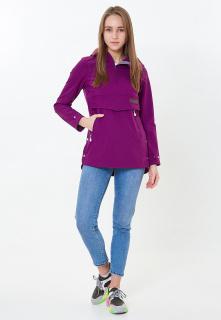Купить оптом женский осенний весенний анорак фиолетового цвета в интернет магазине MTFORCE 1914F