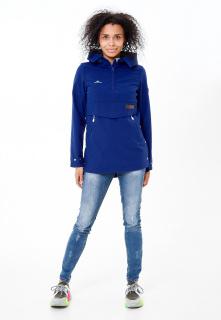 Купить оптом женский осенний весенний анорак темно-синего цвета в интернет магазине MTFORCE 1914TS
