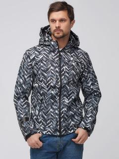 Купить оптом мужскую осеннюю весеннюю ветровку серого цвета в интернет магазине MTFORCE 1915-1Sr