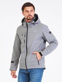 Купить оптом мужскую осеннюю весеннюю ветровку светло-серого цвета в интернет магазине MTFORCE 1915SS