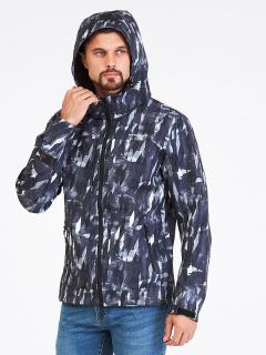 Купить оптом мужскую осеннюю весеннюю ветровку серого цвета в интернет магазине MTFORCE 1915Sr