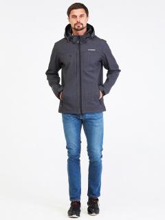 Купить оптом мужскую осеннюю весеннюю ветровку темно-серого цвета в интернет магазине MTFORCE 1915TC