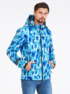 Купить оптом мужскую осеннюю весеннюю ветровку синего цвета в интернет магазине MTFORCE 1915S