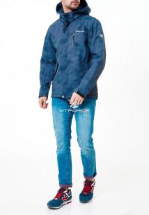 Купить оптом мужскую осеннюю весеннюю ветровку синего цвета в интернет магазине MTFORCE 1920Gl