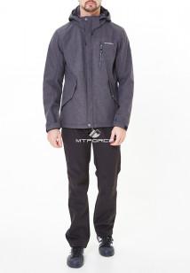 Спортивный костюм мужской осенний весенний softshell серого цвета купить оптом в интернет магазине MTFORCE 01920-1Sr