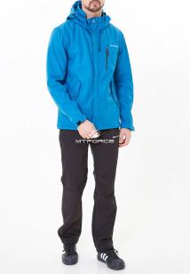 Спортивный костюм мужской осенний весенний softshell синего цвета купить оптом в интернет магазине MTFORCE 01920-1S