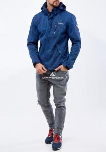 Купить оптом мужскую осеннюю весеннюю ветровку темно-синего цвета в интернет магазине MTFORCE 1920TS