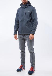 Купить оптом мужскую осеннюю весеннюю ветровку серого цвета в интернет магазине MTFORCE 1920Sr