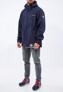 Купить оптом мужскую осеннюю весеннюю ветровку из ткани softshell большого размера темно-синего цвета в интернет магазине MTFORCE 1921TS