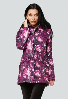 Купить оптом женскую осеннюю весеннюю парку softshell фиолетового цвета в интернет магазине MTFORCE 1922-2Sr