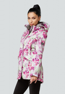 Купить оптом женскую осеннюю весеннюю парку softshell розового цвета в интернет магазине MTFORCE 1922-2R