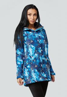 Купить оптом женскую осеннюю весеннюю парку softshell синего цвета в интернет магазине MTFORCE 1922-2S