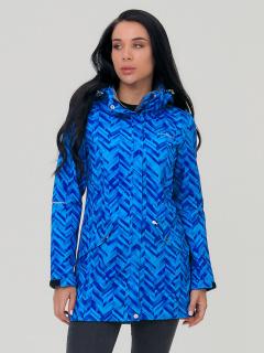 Купить оптом женскую осеннюю весеннюю парку softshell синего цвета в интернет магазине MTFORCE 19221S