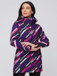 Купить оптом женскую осеннюю весеннюю парку softshell фиолетового цвета в интернет магазине MTFORCE 19221F