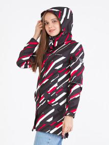 Купить оптом женскую осеннюю весеннюю парку softshell красного цвета в интернет магазине MTFORCE 19221Kr