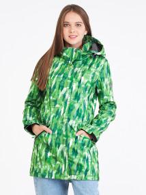 Купить оптом женскую осеннюю весеннюю парку softshell зеленого цвета в интернет магазине MTFORCE 19221Z