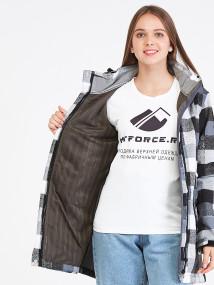 Купить оптом женскую осеннюю весеннюю парку softshell серого цвета в интернет магазине MTFORCE 19221Sr