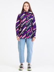 Купить оптом женскую осеннюю весеннюю парку softshell фиолетового цвета в интернет магазине MTFORCE 1923-1F