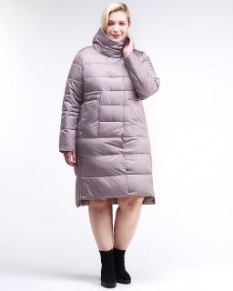 Купить оптом женскую зимнюю молодежную куртку с капюшоном бежевого цвета в интернет магазине MTFORCE 191923_12B